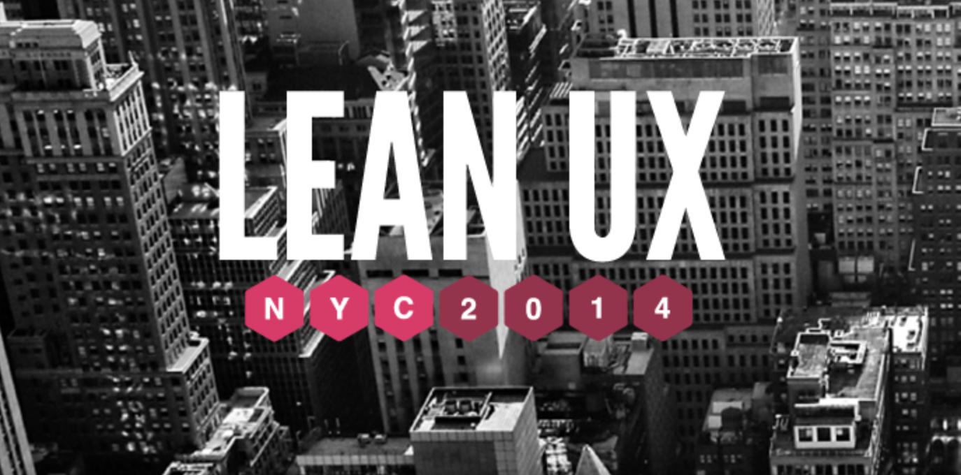Lean UX NYC 2014
