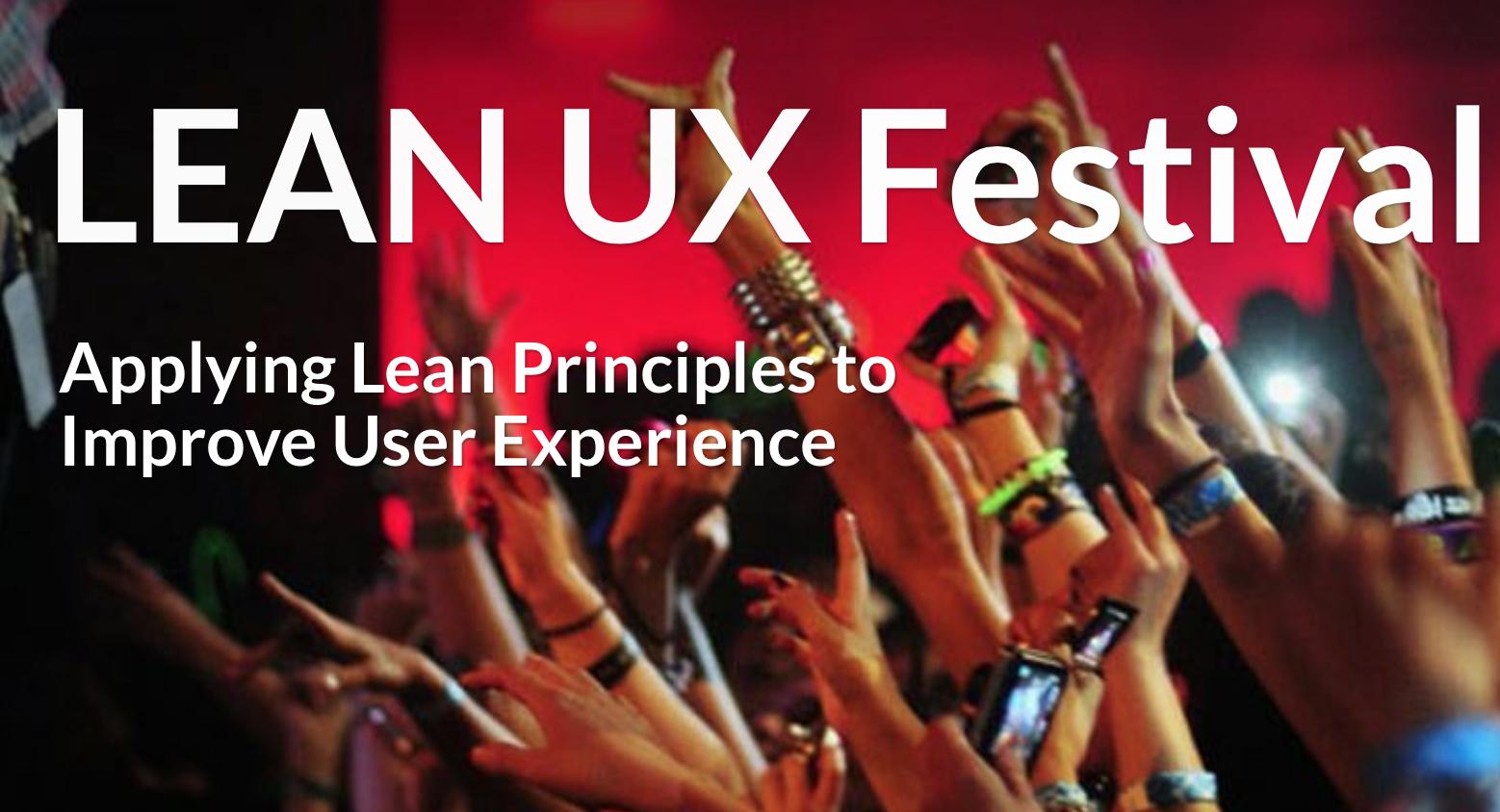 Lean UX Festival Belgium